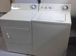GE washer and electric dryer set